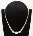 Graduated Oval Mammoth Ivory Necklace - 16""