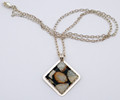 Rhombus Shape Pendant | Robert Cutler's Bowls and Jewelry