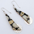 Fossil Walrus Ivory Earrings | Robert Cutler's Bowls and Jewelry