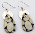 Fossil Walrus Ivory Earrings - Teardrop | Robert Cutler's Bowls and Jewelry