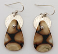 Fossil Walrus Ivory Earrings - Teardrop II | Robert Cutler's Bowls and Jewelry