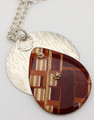 Teardrop Wooden/Silver Necklace | Robert Cutler's Bowls and Jewelry
