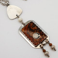 Rectangle Wooden/Silver Necklace | Robert Cutler's Bowls and Jewelry