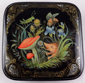 Hedgehog with His Friends | Palekh Lacquer Box