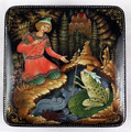 Frog Princess by Yevgenii Krasnov | Palekh Lacquer Box