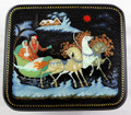 Winter Troika Ride by Lisin | Palekh Lacquer Box