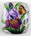 Iris and Butterfly | Fedoskino Lacquer Box