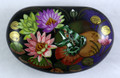 Frog with Water Lilies | Fedoskino Lacquer Box
