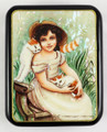 Girl with Two Kittens | Fedoskino Lacquer Box - SOLD