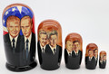 Russian and American Presidents Nesting Doll
