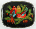 Russian Lacquer Box - Three Birds on the Branches