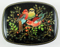 Russian Lacquer Box - Birds on the Cherry Tree