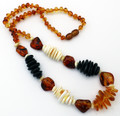 Multicolor Amber Necklace | Baltic Amber