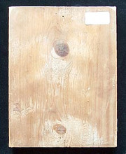 This small icon was painted on a flat wood board with no need for supporting slats on the back.