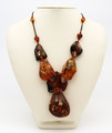 Baltic Amber Necklace - Decorated with Gold