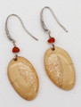Fossil Walrus Ivory Earrings - Oval