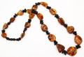 Amber Bead Necklace- Cherry and Cognac Shade