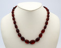 Cherry Amber Bead Necklace   Baltic Amber