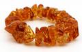 Baltic Amber Stretch Bracelet - Honey Shade