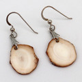 Fossil Walrus Ivory Discs Earrings  | Robert Cutler's Bowls and Jewelry