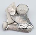 Alaska Boy with Salmon Mammoth Ivory Pin/Pendant