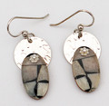 Fossil Walrus Ivory Earrings - Oval | Robert Cutler's Bowls and Jewelry
