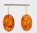 Baltic Amber Oval Dangle Earrings