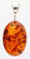 "Baltic Amber Oval Pendant - ""Olga"""