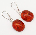Cognac Baltic Amber Earrings - Lydia
