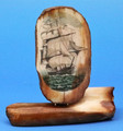 Large Sailing Ship Scrimshaw by Dennis Sims