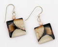 Square Shape Walrus Ivory Earrings | Robert Cutler's Bowls and Jewelry