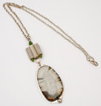 Fossil Walrus Ivory Slice Necklace - Robert Cutler's Bowls and Jewelry