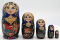 5 Piece Ivan and Firebird | Fine Art Matryoshka Nesting Doll