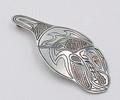 Silver Orca Pendant - Native Alaskan Silver Jewelry