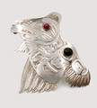 Silver Thunderbird Pin - Native Alaskan Silver Jewelry