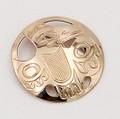 Golden Eagle Pendant - Native Alaskan Gold Jewelry