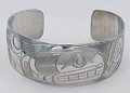 Killer Whale Haida Style Cuff Bracelet  | Native Totemic Silver Jewelry