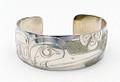 Hummingbird Haida Style Cuff Bracelet  | Native Totemic Silver Jewelry