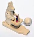 Bogorodsk Toys - Bear Having a Little Snack | Russian Souvenirs