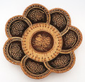 "Birch Bark Dish/Snack Tray with 7 Petals - ""Pine Cone"" | Siberian Birch Bark"
