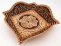 "Birch Bark Snack Tray/Bread Basket - ""Sunflowers"" | Siberian Birch Bark"