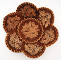 "Birch Bark Dish/Snack Tray with 6 Petals - ""Daisies"" | Siberian Birch Bark"