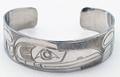 Raven Haida Style Cuff Bracelet  | Native Totemic Silver Jewelry