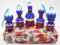 Cathedral Dome Blue/Red - Set of 5 | Russian Christmas Ornament
