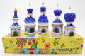 Cathedral Dome Blue/White - Set of 5 | Russian Christmas Ornament