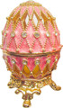 """Egg """"Net"""" - Pink small   Faberge Style Egg"""