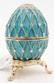 "Egg ""Net"" - Blue | Faberge Style Egg"