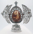 Silver Filigree Imperial Egg | Faberge Style Egg