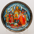 The Tale of Tsar Saltan Palekh Decorative Plate Large - Russian Souvenir