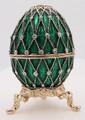 "Egg ""Net"" - Green | Faberge Style Egg"